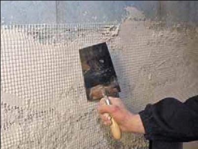 Нанесение полимерной сетки